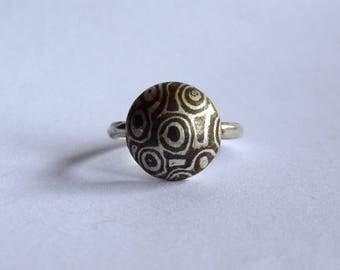 Silver Mokume Gane Ring