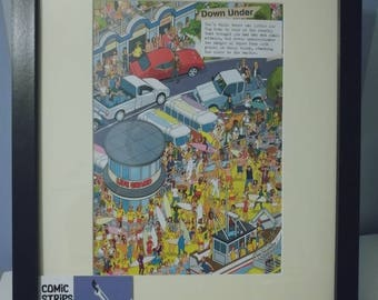Top Gear - Where's Stig  annual page framed with a A4 Frame