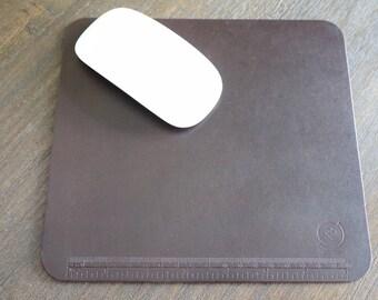 Brown Latigo Leather Multi Function Mouse Pad