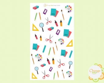 Art Supplies, Art Supply Stickers, Planner Stickers