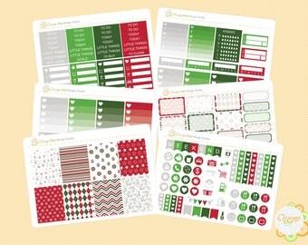 Christmas Weekly Kit, Erin Condren Life Planner, Happy Planner