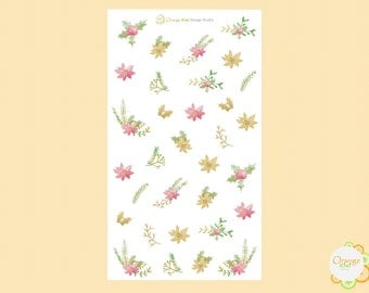 Winter Floral, Winter Planner Stickers, Floral Stickers, Erin Condren Life Planner, Happy Planner, Filofax