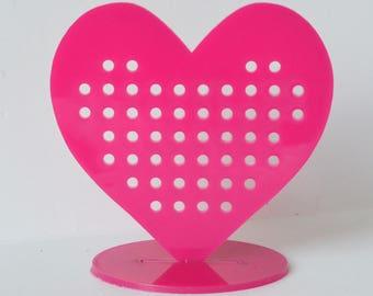 Sweet heart earring stand / holder / jewelry