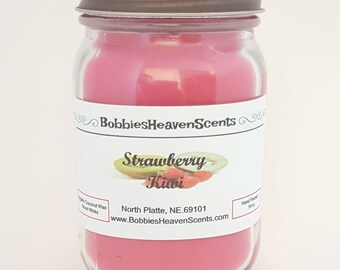 Strawberry Kiwi, Scented Candles, Fruit Scented Candles, Strawberry