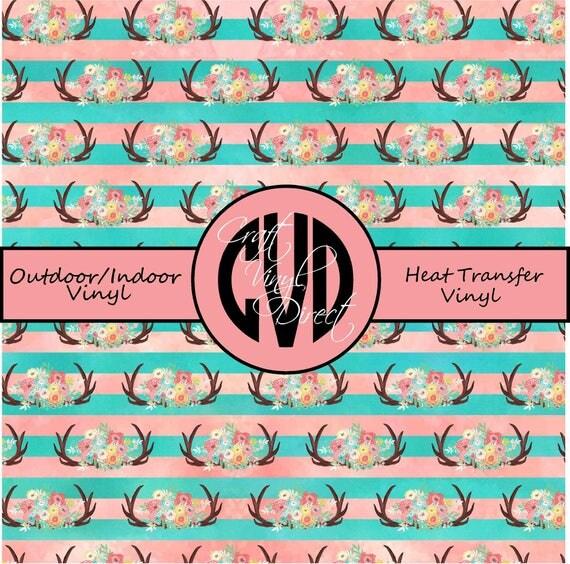 Floral Patterned Vinyl // Patterned / Printed Vinyl // Outdoor and Heat Transfer Vinyl // Pattern 685