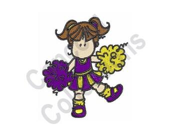 Cheerleader - Machine Embroidery Design
