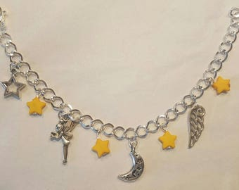 Tinkerbell wing charm bracelet little yellow star