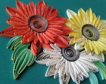 Quilling wall art Quilling home decor Quilled picture Quilling decor Wall art Home decor Paper flowers