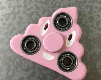 Poop Emoji Fidget Spinner, Choose Your Color! Rare, Unique, Funny Gift includes Center Hybrid Ceramic Bearing!