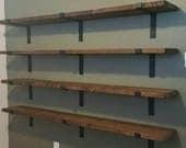 "Set of 2, Metal Shelf Brackets, Heavy Duty Shelf Bracket, 2"" wide, Iron Shelf Bracket, Industrial Shelf Bracket, Made in the USA!"