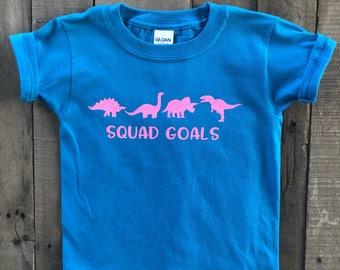 Squad Goals Dinosaur Shirt - Girl Dinosaur Shirt - Girl Dino Shirt