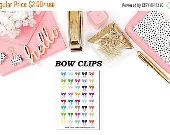 40% Off Sale Bow Clips//Happy Planner//Erin Condren//Personal Planner
