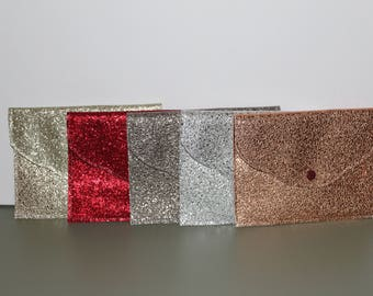 Cover photo / gifts / tags / postcards leatherette glittery lurex colors 14/19 cm