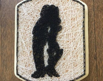 Made to Order Pretty Woman Silhouette String Art