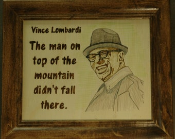 Vince Lombardi portraits and quotes