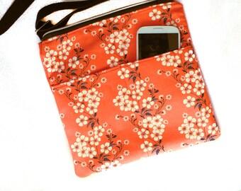 Large Cell Phone Bag | FloralCell Phone Purse | Gifts under 25 | Ladies Purse | Handbag | Adjustable Strap | Crossbody | Shoulder bag |