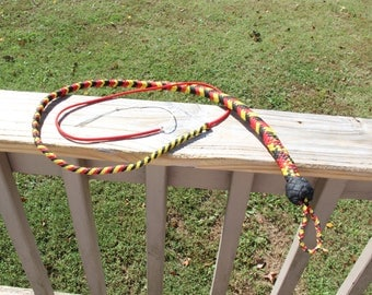 Coral Pattern Snake Whip 3.5ft (easily change fall)