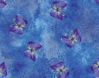Kanvas - Floral Impression - Gold Metallic - Turquoise - Floral - Flowers - 8674M-55