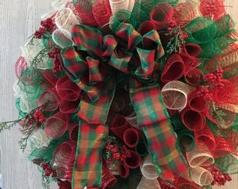 Old Christmas Spiral Wreath