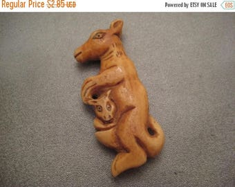 ON SALE 15% OFF Camel Bones Carved Bead Kangaroo 1pc