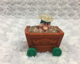 Vintage Bashful Snow White and the Seven Dwarfs Pop up Wheeled Happy Meal McDonalds Toy