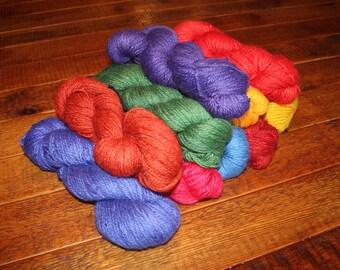 Alpaca Yarn, Worsted, Greener Shade Dyes