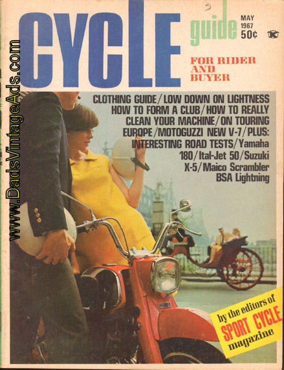 1967 May Cycle Guide Motorcycle Magazine Back-Issue #6705cg