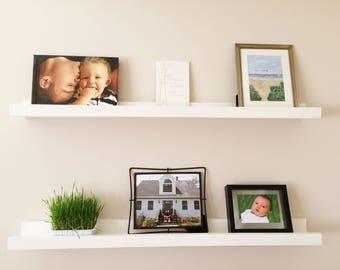 Sturdy Floating Picture Ledge, Floating Shelf, Art Shelf, Picture Shelf, Display Ledge, Gallery Shelf, Rustic Wooden Shelf, Art Ledge