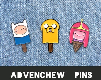 ADVENTURE TIME Pin Combo Enamel Lapel Pins - Finn the human Jake dog quote pun funny art fan art lip princess bubblegum jewellery jewelry