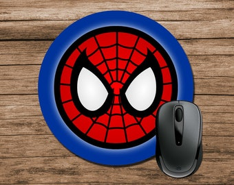 Superhero Mouse Pad, Spiderman Mouse Pad, Round Mouse Pad, Office Gift, Co-Worker Gift, Boss Gift, Student Gift