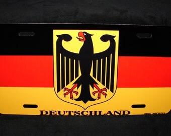 GERMAN  FLAG metal novelty license plate  Deutschlandfahne Bundesflagge