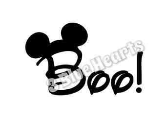 Boo Mickey svg studio dxf pdf png jpg