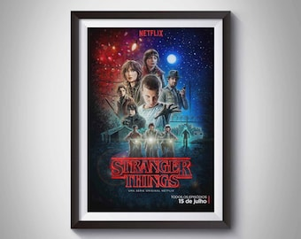 Stranger Things,  Stranger Things poster, Stranger Things print, Digital print, Movies print, Movie Poster,  Home decoration, Gift for fan