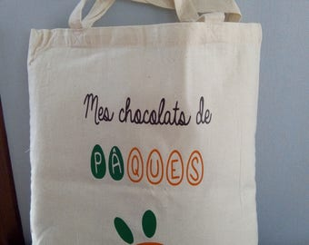 * Easter Chocolate my * Tote bag for harvest hunting for eggs from your child