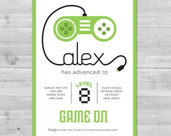 Video Game Invitation, Gamer Party Invitation, Video Game Party Invitations Video Game Party Invitations Boy Birthday Invitation Gamer Party