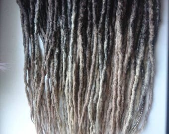 Ready made set of double ended synthetic dreads. Crochet dreads. Natural looking dreads. Colour transitions dreads. Blonde. Ombre