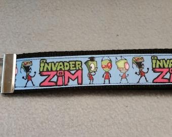Invader Zim Wristlet Keychain