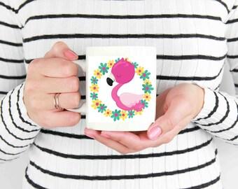 Flamingo in flowers 11oz Mug