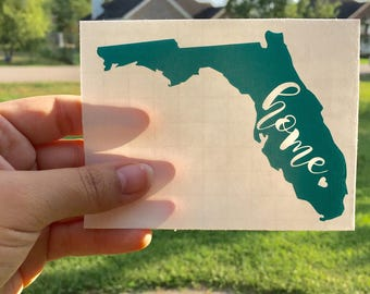 Home Florida Decal-Florida Decal-Florida Decal- vinyl Decals- Home decals- Texas Pride- State Pride Decal-Florida Girl- Southern Bell