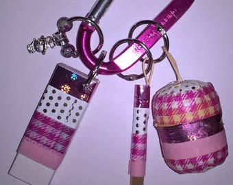 Back-to-school charms - pink