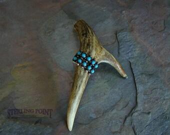 Vintage Native American Turquoise Ring Zuni probably Vintage turquoise ring ~ Zuni ring