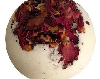 Rose Bath Bombs/Bridal Shower Favors/Bridesmaid Gifts/12 pc Bath Bombs/Free Shipping/Rose Petal/Bath Fizzies