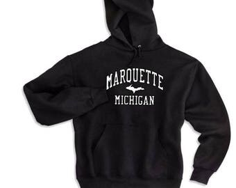 Marquette Hoodie, Marquette sweatshirt, UP sweatshirt, Upper michigan Hood, Marquette Hood, Michigan Hood, Michigan Sweatshirt, UP shirts