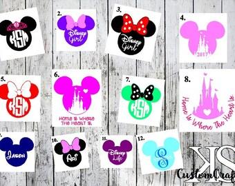 Cute Disney Decal, Disney Car Decal, Cute Decal, Mickey Head Decal, Disney Car Decals