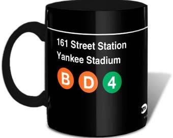 NYC Subway Station Stop 161st St. Yankee Stadium Black Mug