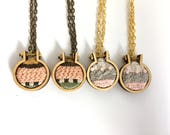 4 x embroidered pendants