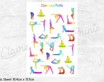 YOGA Planner Stickers (2 options)