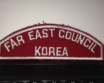 Boy Scout Far East Council Korea