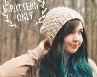The Elderberry Beanie Pattern - Knitting DIY Beginner - Chunky Knit Textured Hat Tutorial