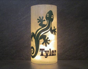 Personalized Gecko or Lizard Light
